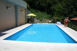 The pool ...