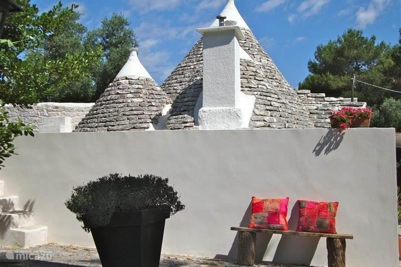 Vakantiehuis Italië, Apulië, Martina Franca Vakantiehuis Trullo Presidente in de Puglia