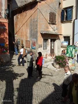 Grosnjan tijdens jaarlijkse kunstmarkt eind september