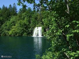 Plitvice Lake (Dalmatia). Large and small waterfalls dominate this area where some routes on foot and are plotted by boat. How pure water and unspoiled nature looks out you can discover here.