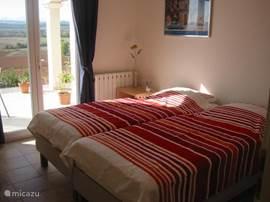 Slaapkamer aan het zonneterras.