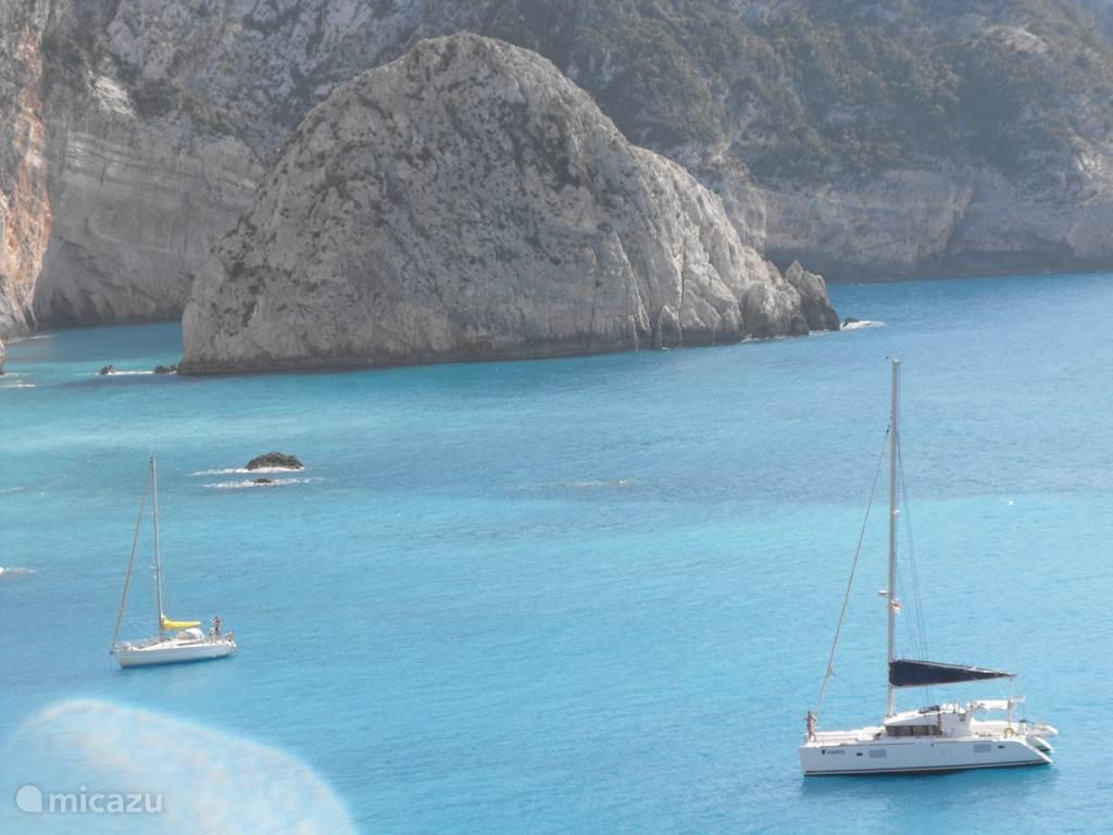 The sea near the island of Lefkada.