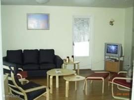 zithoek in woonkamer