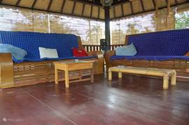 lounge area above the carport