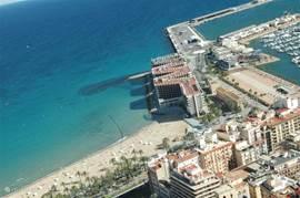 Uitzicht vanaf het kasteel in Alicante