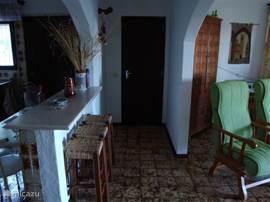Gang tussen woonkamer en keuken