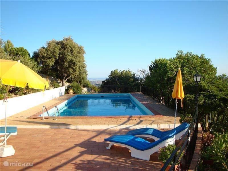Zwembad gezien vanaf de patio