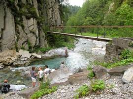 Nearby is the Hermagor Garnitzenklamm. There are several klammen in Carinthia. when you're in Austria, you must definitely visit them.