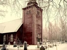 de houten kerk van Eksharad (22km)