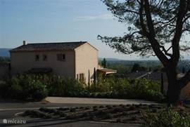 De villa en het fraaie uitzicht