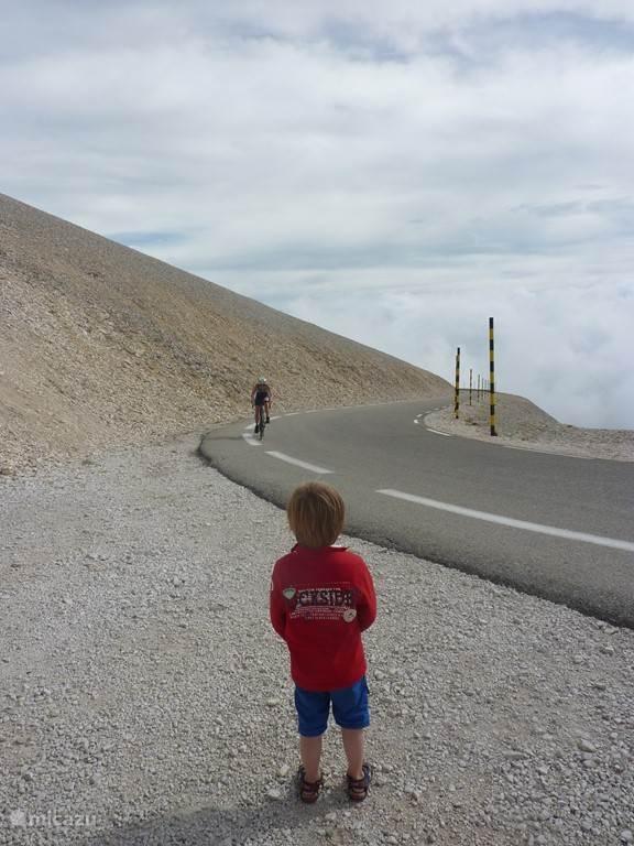 als hij groot is wil hij ook naar de top