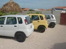 Wij verhuren ook autos voor Naf 50, per dag.   Appartement is 45 euro per dag en indien inclusief auto is het 65 euro per dag.