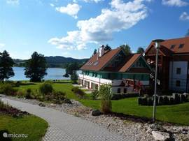 Here you can see the great location of the park on the beautiful Lake Lipno!
