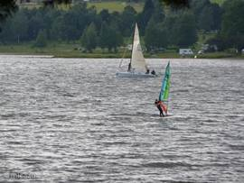 The Lipnolake is a perfect place for surfing and sailing.
