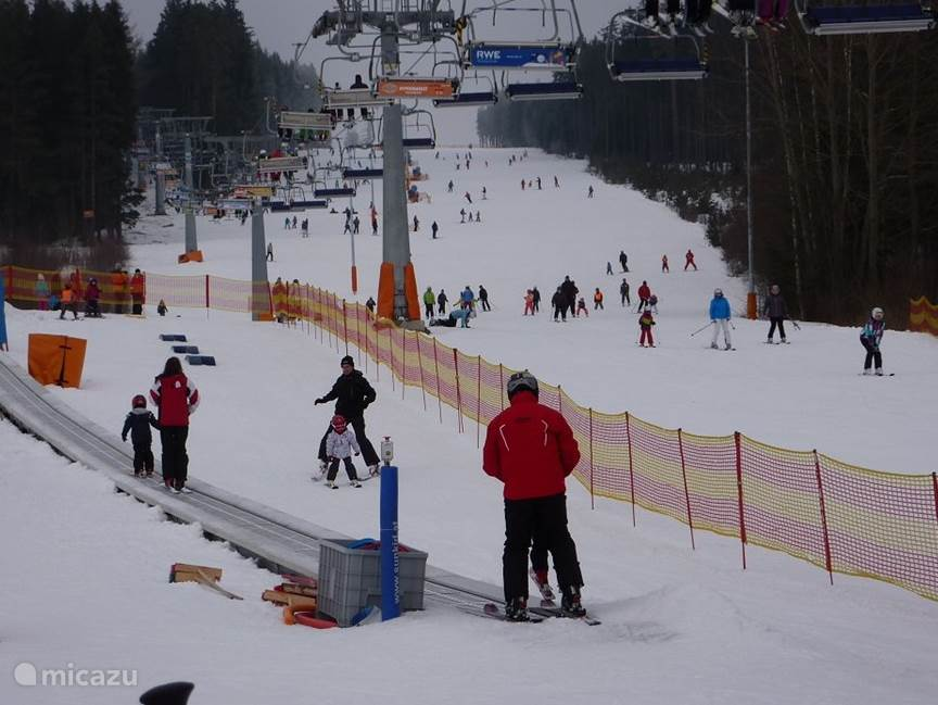 The Fox Park playground is next to the downhill slope that ends in Lipno.