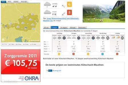 The climate and weather in Kötschach-Mauthen to Carinthia