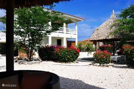 Caribbean View Villa with gardens and swimming pool. Beautiful sunny weather with a refreshing breeze.