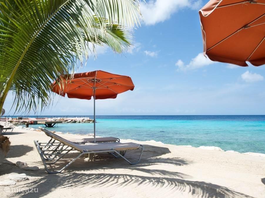 Strandrestaurant Karakter bij het privé strand om de hoek van Villa Caribbean View