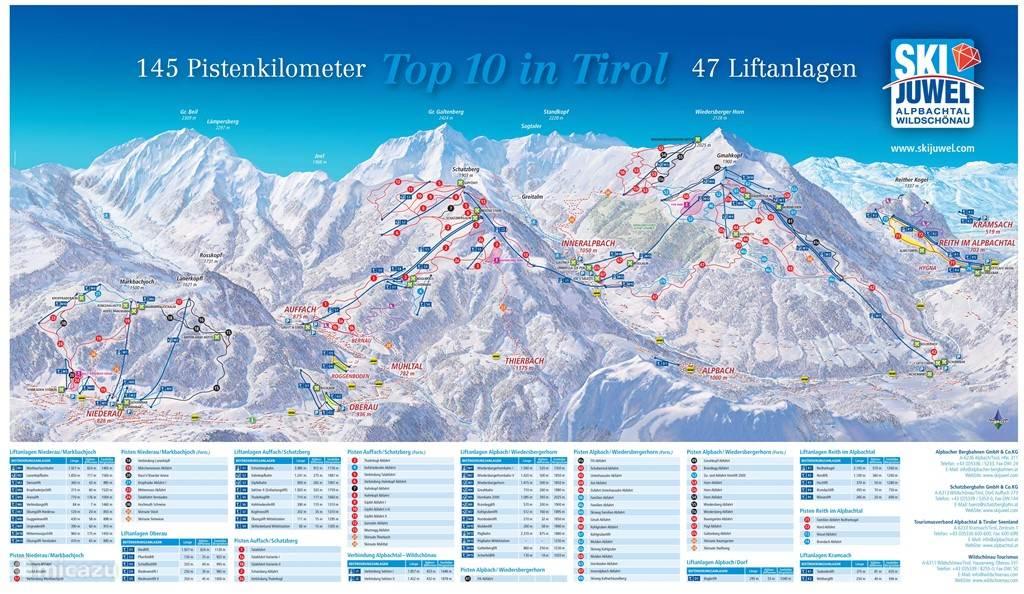 145 km Piste in SkiJuwel