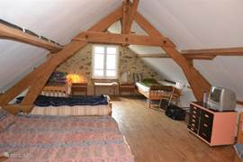 The sleeping loft is ideal for children