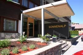 Entrance of apartment building Sonnenalp in Niederau.