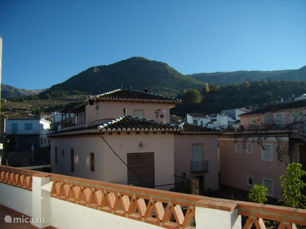 uitzicht van dak terras