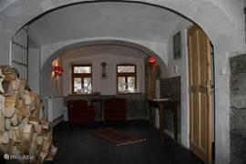 Oude gedeelte van het huis met zijn gewelven.