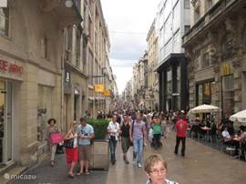 Main shopping street Bordeaux