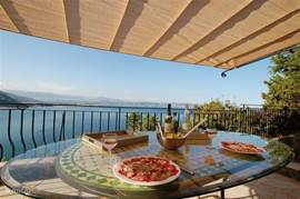 From each terrace and apartment has a beautiful view over the bay of Cannes.