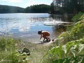 Toke meer, met veel mooie zwem of recreatie plekken.
