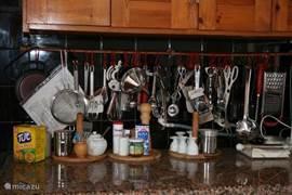 Het keukengerei.