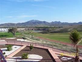 Uitzicht op de golfbaan vanaf de Sensol golfclub op Camposol