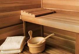 Lekkere 3 a 4 persoons prive-sauna waar u kunt genieten van een ultiem wellness gevoel in uw 'eigen' loghome.