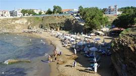 Panormo has three cozy sand beaches. The middle beach has a cozy tavern. The sea here but progressively deeper making it very suitable for small children.