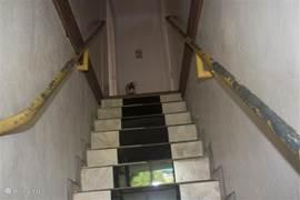Trap naar appartement