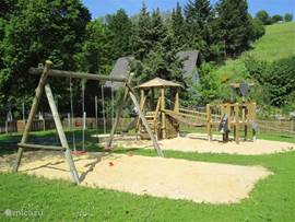 New playground in the middle of the village