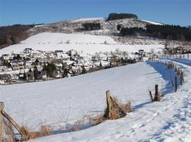 The view Elpe in winter.