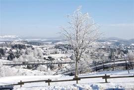 Winter in Winterberg. The slopes are at about 15-20 minutes drive from our house.