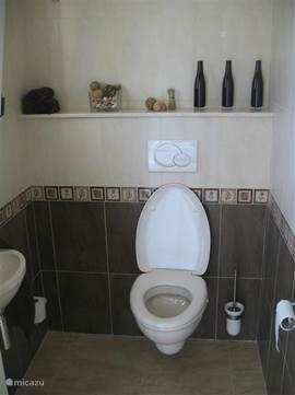 In de villa bevindt zich een apart toilet. Dit toilet is gelegen in de hal.