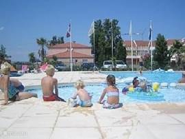 Swimming pool with children