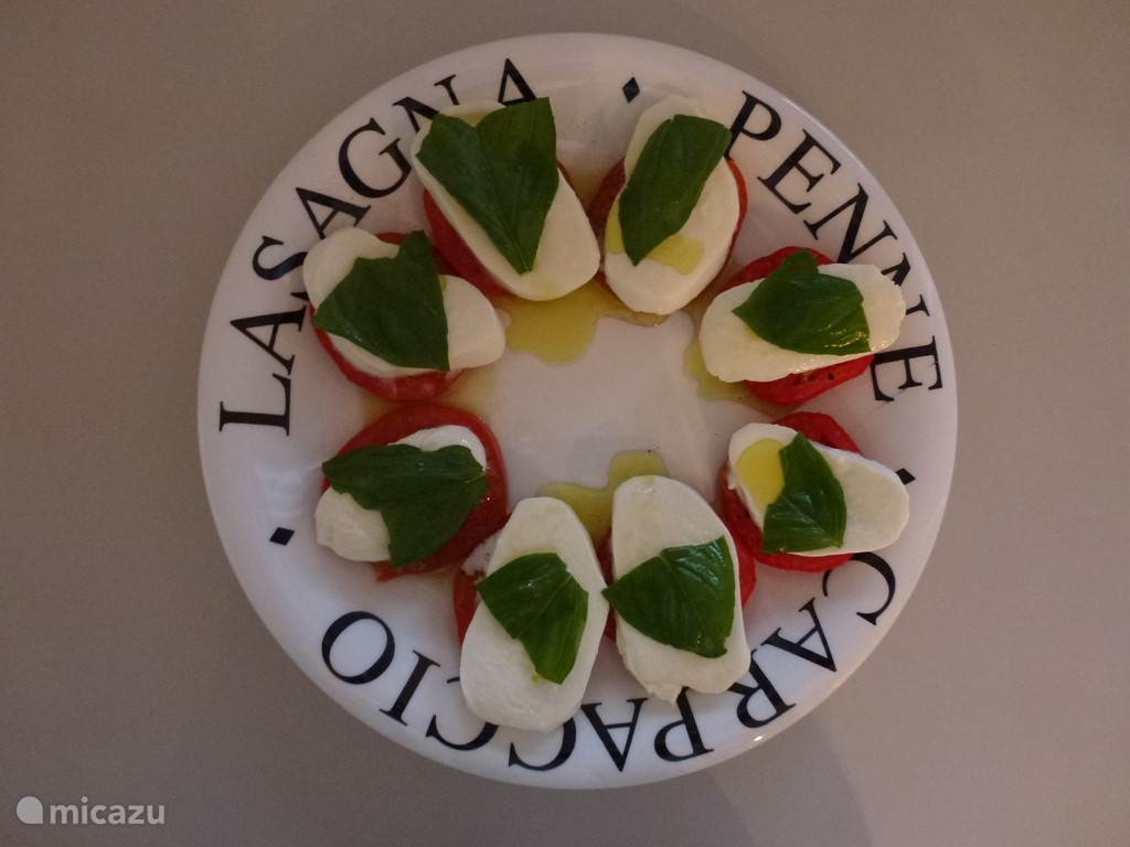 organic sun-ripened tomatoes from your own garden, delicious with mozzarella and basil