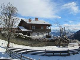our mountain lodge 'ALMHAUS HÜTTENROMANTIK' in winter