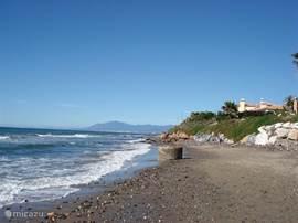 Het strand.