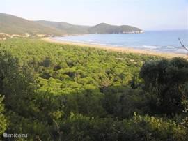 De prachtige tyreense kust, ongeveer 1 uur van Podere di Maggio