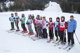 Heerlijk skiën voor de deur.