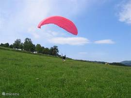 paragliding, after 2 hours of practice the first autonomous flight