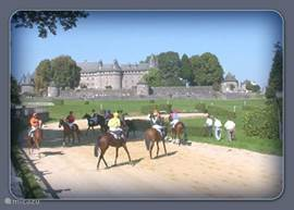 The big horse town in France, Pompadour, with its magnificent castle and the great horse competitions is located some 20 km from La Maison Neuve.
