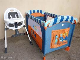 Kinderbedje en kinderstoel aanwezig (gratis)