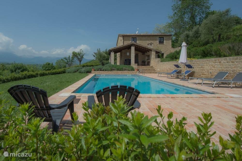 Zuidgevel met zwembad Casa Filo