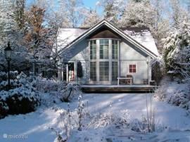 Even een kiekje van het chalet in de winter, want ook dan is het prachtig.